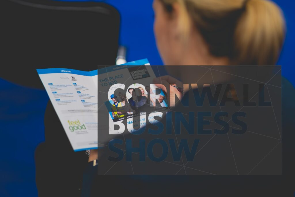 A clean and modern collateral design for Cornwall Business Show