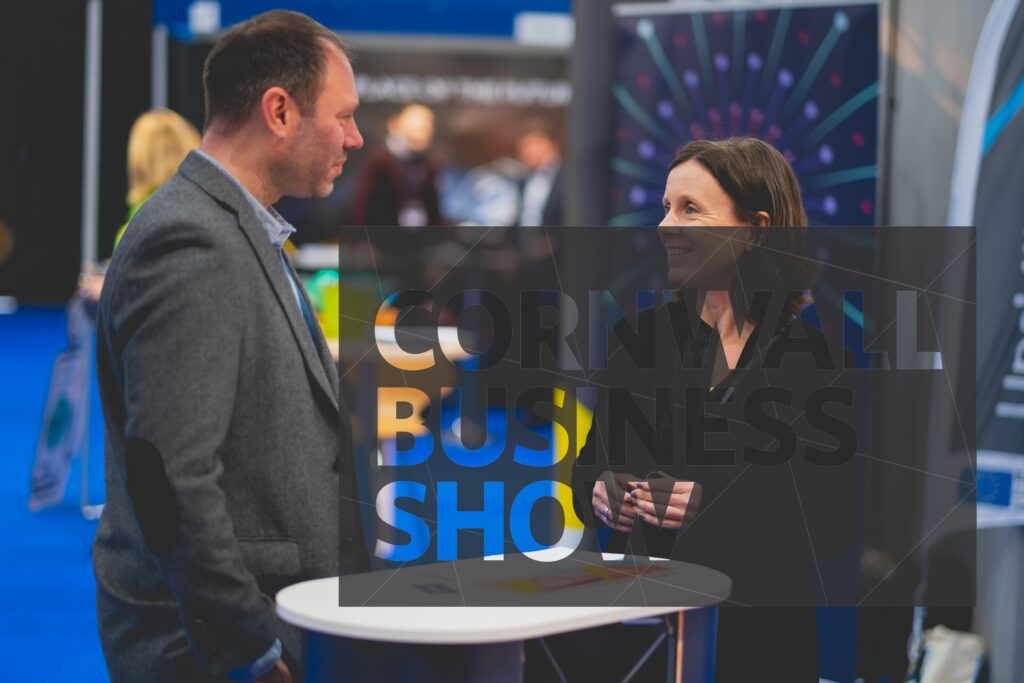 A visitor finding business solutions at Cornwall Business Show