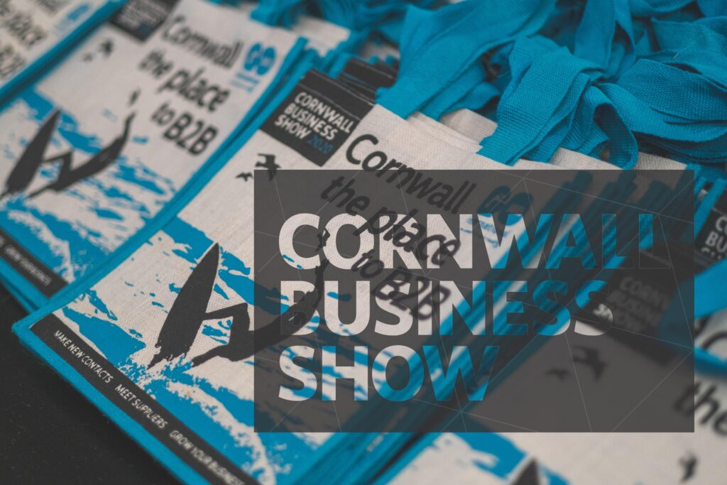 Cornwall, the place to B2B branded Cornwall Business Show bags
