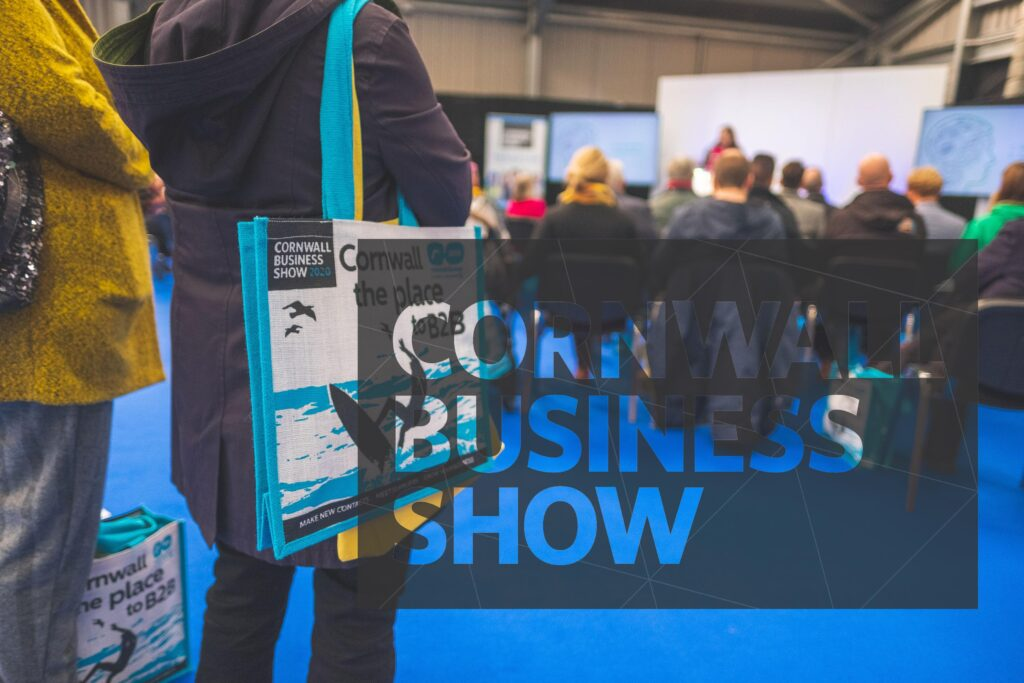 branded bags and sponsorship opportunities at Cornwall Business Show