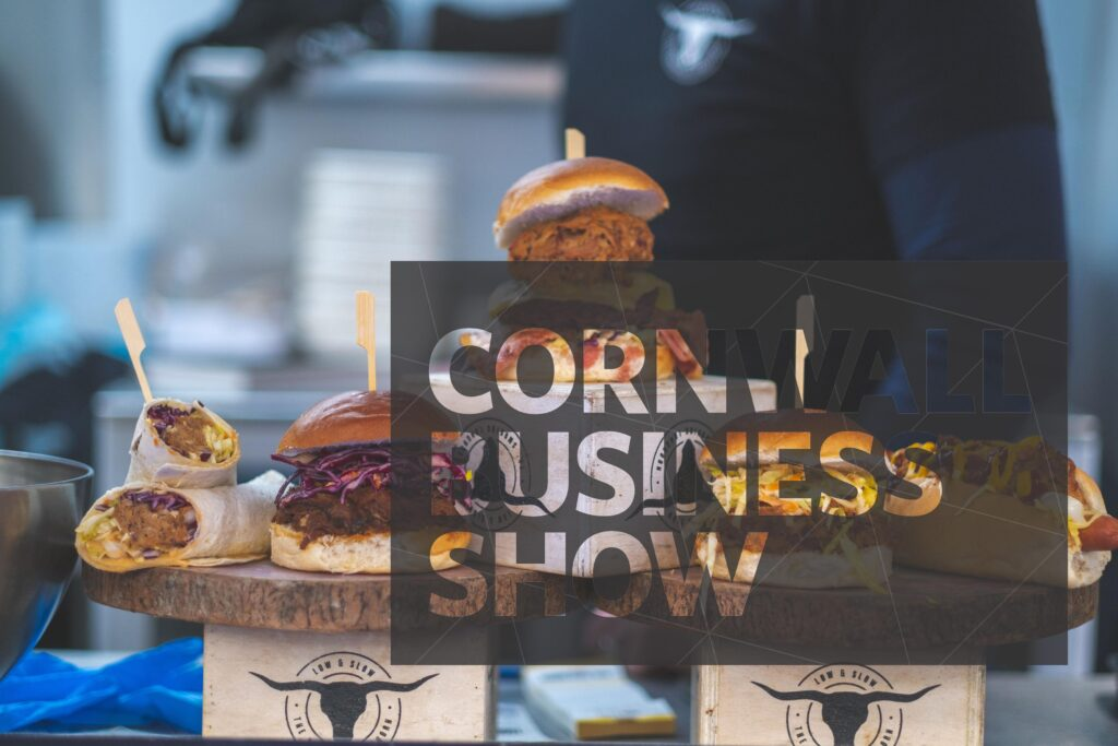 Low & Slow burgers and food at A Bite Of Cornwall food and drink market at Cornwall Business Show